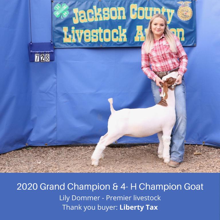 2020 Goat Sale Ad - Thx Liberty Tax